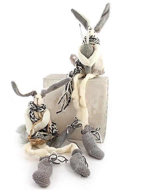 Fabric Rabbit Ornament