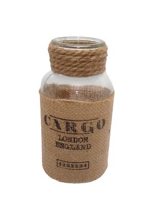Hessian Wrapped Jar