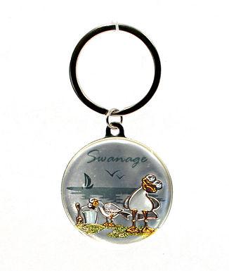 Swanage Seagull Keyring