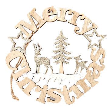 Laser Cut Christmas Plaque