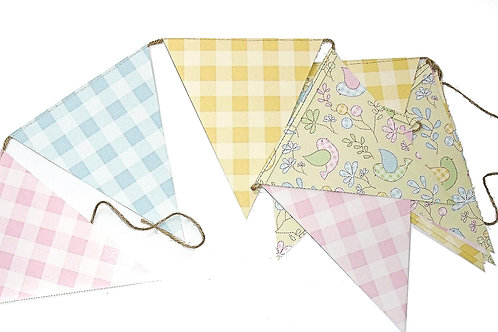 Floral And Gingham Bunting