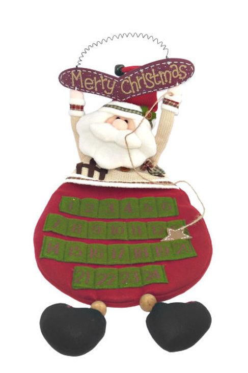 Fabric Santa Advent Calendar