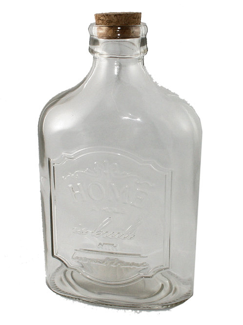 Embossed Bottle with Cork