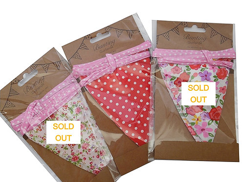 Floral Gingham Check Bunting
