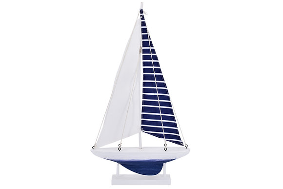 Blue and White Sailing Boat