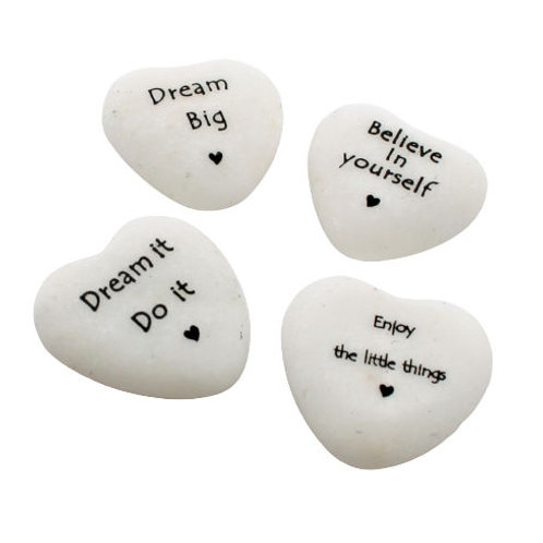 Heart Motto Stone