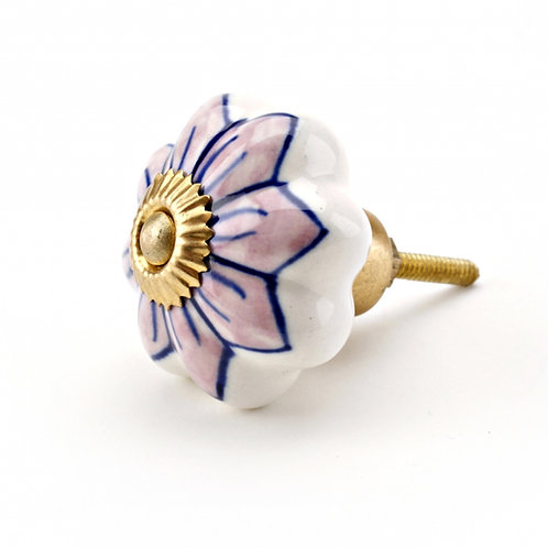 Flower Shape Ceramic Drawer Pull