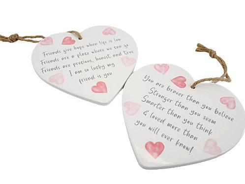 Ceramic Heart Hanger