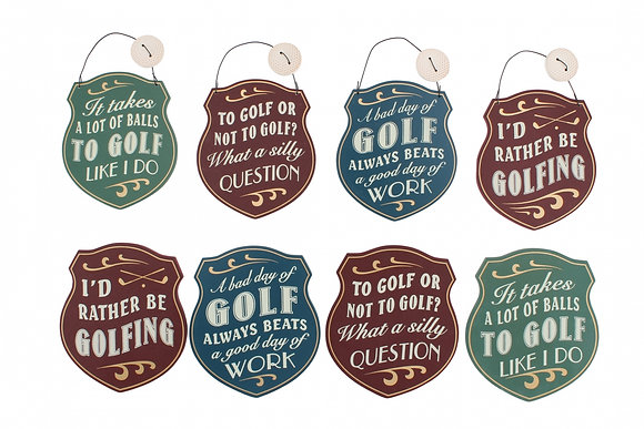 Golf Coaster or Hanger
