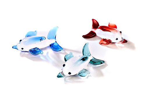 Glass Dolphin on Mirror