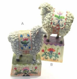 Resin Sheep on Block