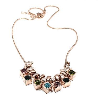 Cube Gem Necklace