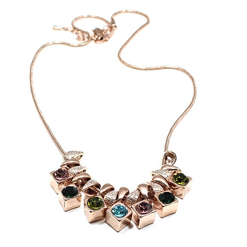 Cube Gem Necklace