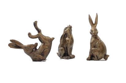 Resin Bronze Look Hare