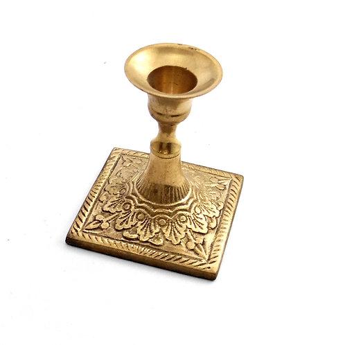 Candle Stick Mini Brass Square Base