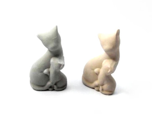 Ceramic Cat & Kitten