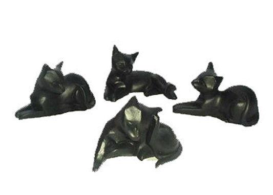 Black Resin Cat