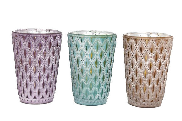 Embossed Candle Pot