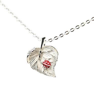 Ladybird Leaf Necklace