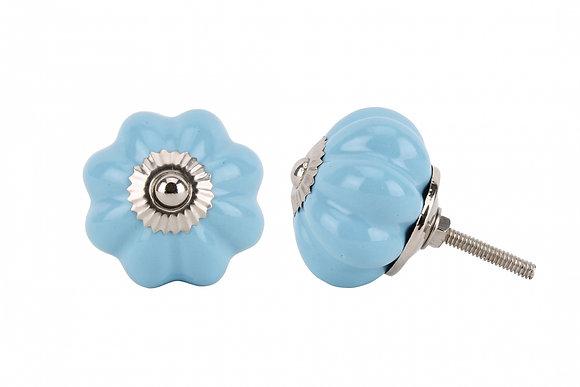 Blue Flower Drawer Pull