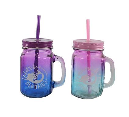 Mermaid Drinking Jars