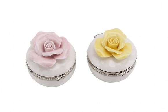 Round Rose Ceramic Box