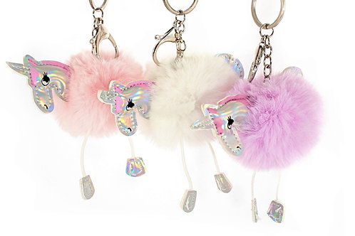 Fluffy Unicorn Keyring