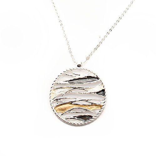 Circle and Waves Necklace