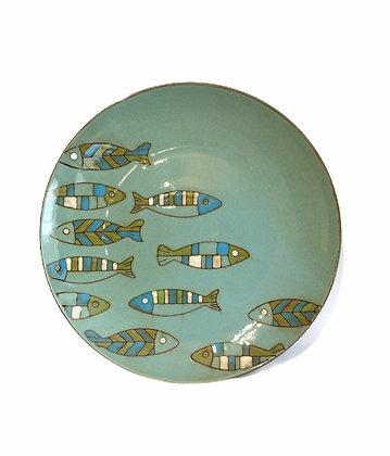 Large Ceramic Fish Plate