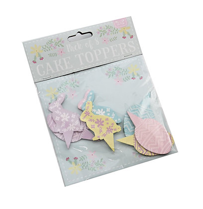 Pack of 8 Easter Cake Toppers