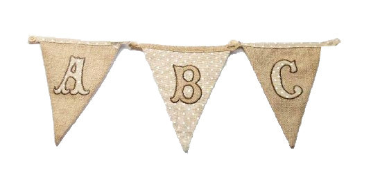 Linen Bunting Initials