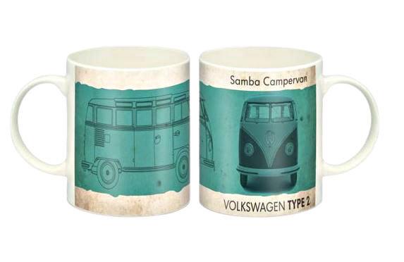 Green Campervan Mug
