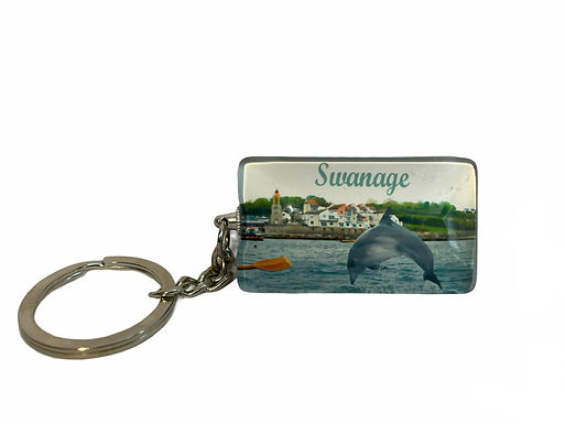 Keyring Bespoke Swanage Dolphin Picture