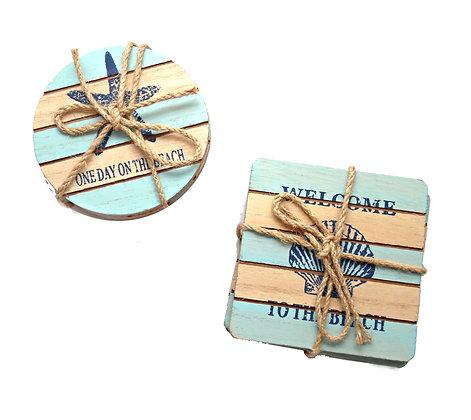 Set of 2 Plank Coasters