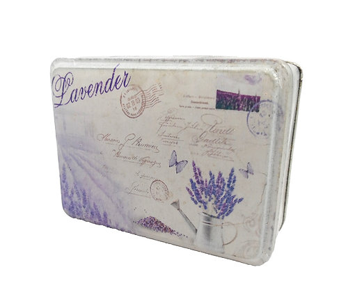 Lavender Tin Box