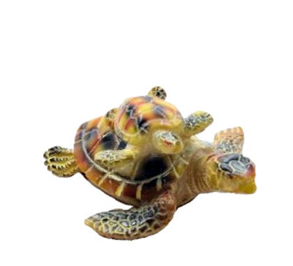 Resin Mother and Baby Turtle