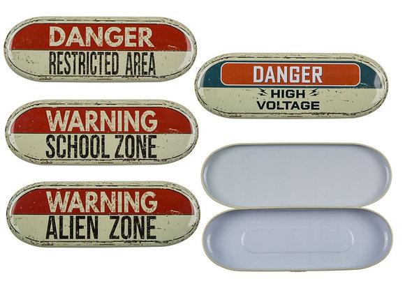 Tin Danger Pencil Box