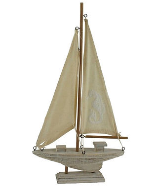 Wooden Boat Ornament