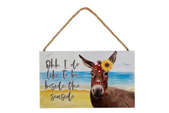 Beach Donkey Sign