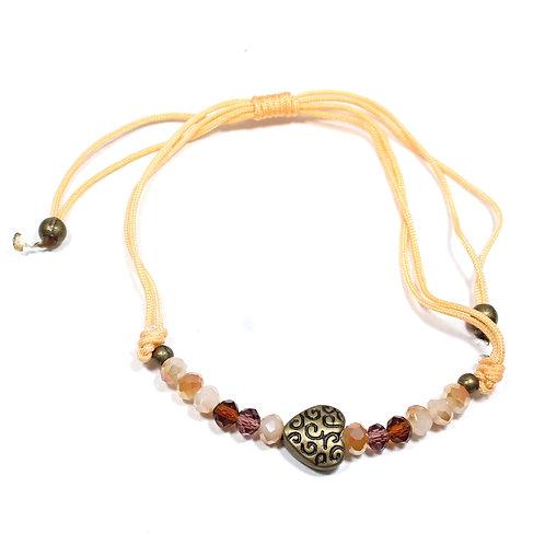 Brass Heart Bracelet