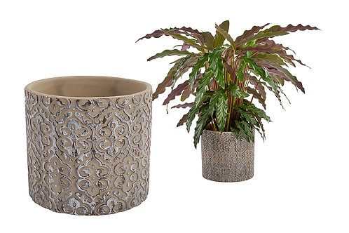 Embossed Plant Pot