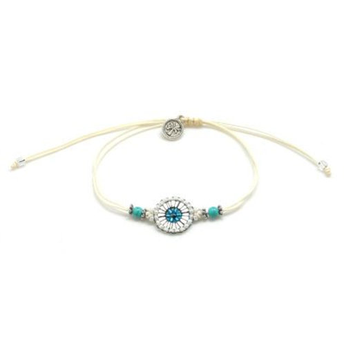 Adjustable Cord & Beads Bracelet
