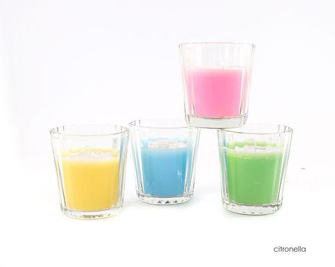 Citronella Candle In Glass Pot
