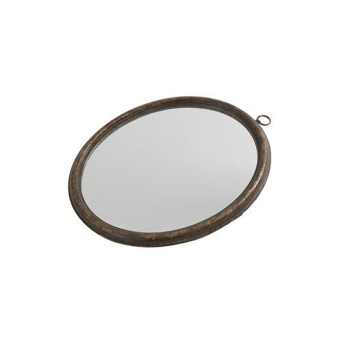 Oval Wood Frame Mirror