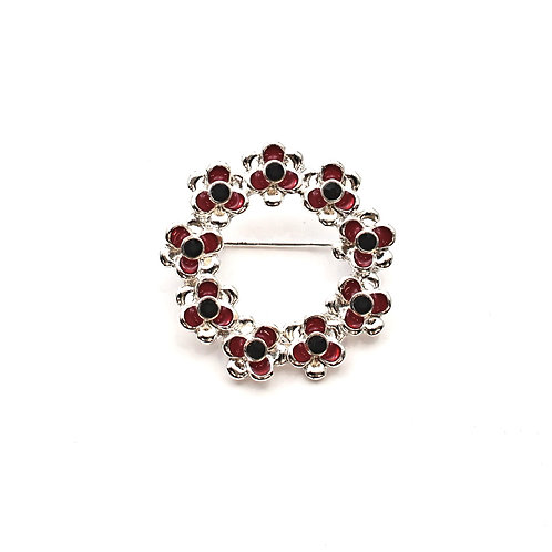 Circle of Poppies Brooch