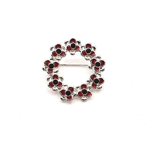 Circle Of Poppies Brooch