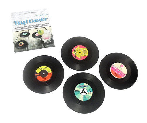 Pack of 4 Record Coasters