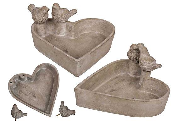 Heart Bird Bath
