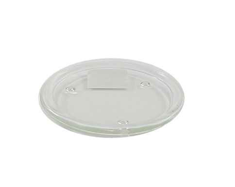 Candle Plate Clear Glass Round