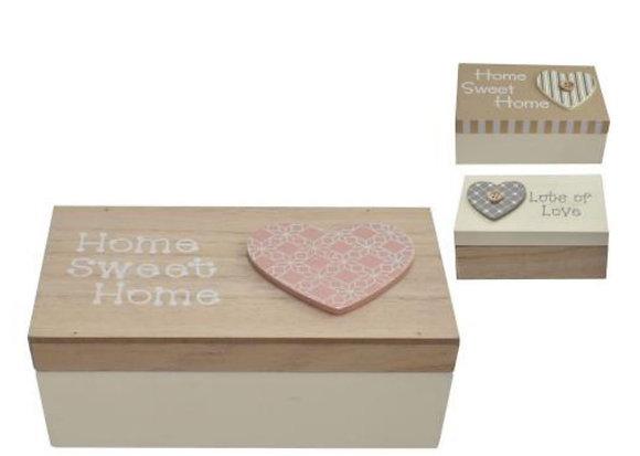Wooden Heart Box